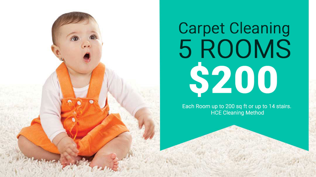 Coupon for Carpet Cleaning for 5 Rooms for $200. Restrictions apply.